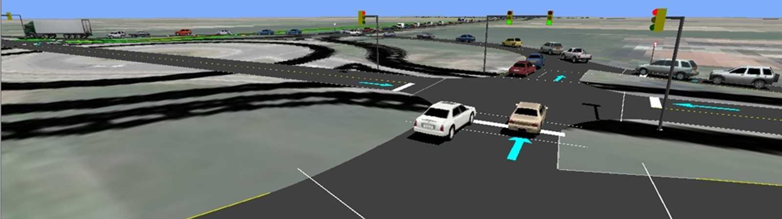 sviluppo modelli matematici di microsimulazione del traffico a supporto di studi di impatto viabilistico connessi con interventi edilizi residenziali e commerciali