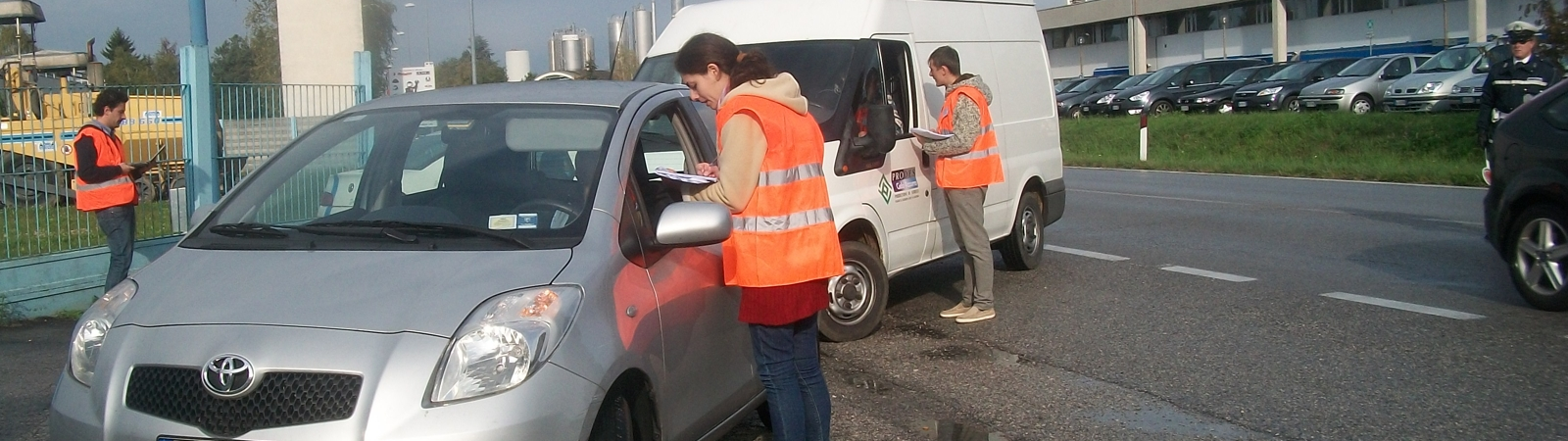 indagini frontali face to face al cordone stradale, indagini Origine/Destinazione sulla mobilita' delle persone e delle merci